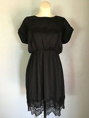 Marty M by A Pea in the Pod Maternity Black Dress Lace Size Medium