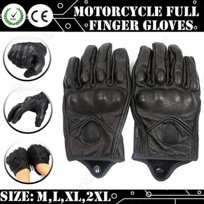 Touch Screen Motorcycle Bike Leather Gloves Riding Racing Protective Armor M-XL