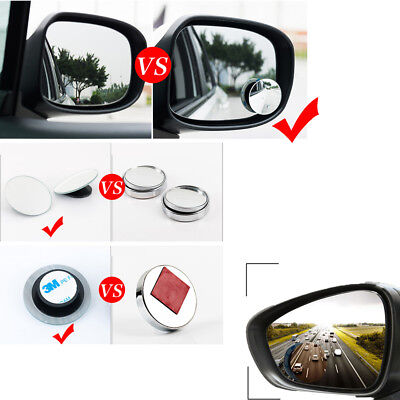 2x Discounted Car Rear View Mirror 360° Rotating Wide Angle Convex Blind Spot