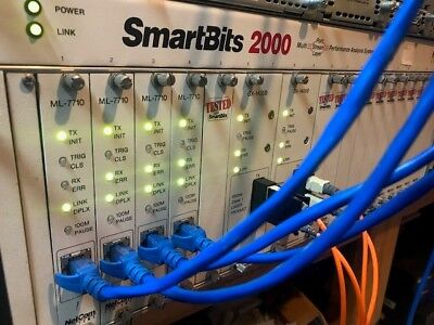 SPIRENT SMARTBITS 2000 with 4x ML7710 FE and 2x GX1505B GE Modules