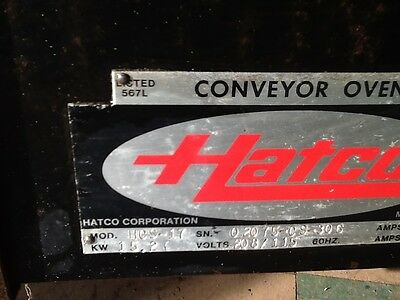 Hatco  conveyor others 11 feet long  Analog