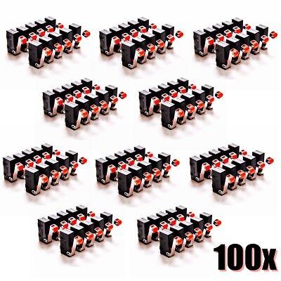 100X Micro Roller Lever Arm Terminals Switch Limit ON/OFF KW12-3 Microswitch 5A