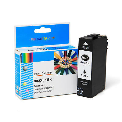 T802XL T802XL120-S Black Ink Cartridge High Yield For Epson WF-4720 WF-4730