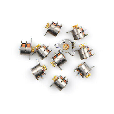 10pcs Micro 2-Phase 4-Wire Stepper Motor Stepping Motor 9T Copper GearMA