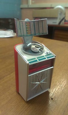 13cm AMI CONTINENTAL DESKTOP JUKEBOX  OWNER TOY ORNAMENT CHRISTMAS NOVELTY