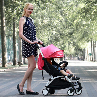 Foldable Pram Pushchair Newborn Baby Stroller Buggy Carriage Infant Travel New#6