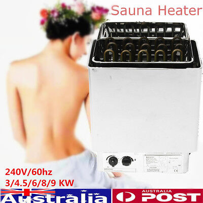 240V 60hz Sauna Heater Stove SPA Wet Dry Stainless Steel Internal Control Firmer