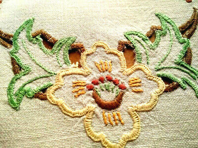 Lovely Yellow Lily ~ Vintage Hand Embroidered/Cut-work Doily
