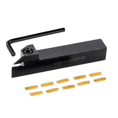 MGMN200 w/ MGEHR 1212-2 12mm Parting Grooving Off Tool Holder & Inserts Set