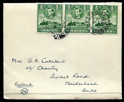 Malta 1½d KGVI censored cover  from Valletta to UK 3 Dec 39