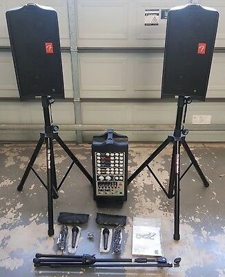 FENDER Passport PD250 Portable PA System PLUS Stands + Mics!!