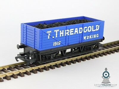 Hornby R6482 Open Train Wagon with Coal Load 'T. Threadgold'  - [OO Gauge]