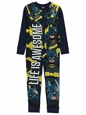 BOYS DC Comics Lego Batman  fleece all in one pyjamas Ages 4-10 yrs