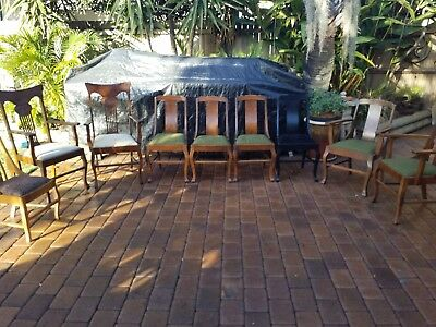 antique carver dinning chairs