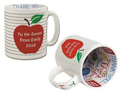 Personalised Thank You Teacher Mug Leaving Gift End Of Term School Present Cup