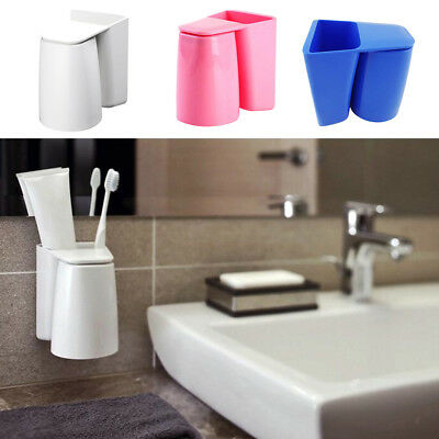 Wall Toothbrush Holder Toothpaste Rack Suction Dental Gargle Cup Set