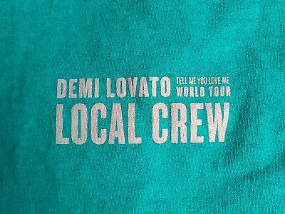 DEMI LOVATO 2018 Tour BACKSTAGE Crew ONLY T Shirts Extremely RARE & Collectable!