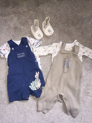 2 Peter Rabbit Baby Outfits With Matching Shoes
