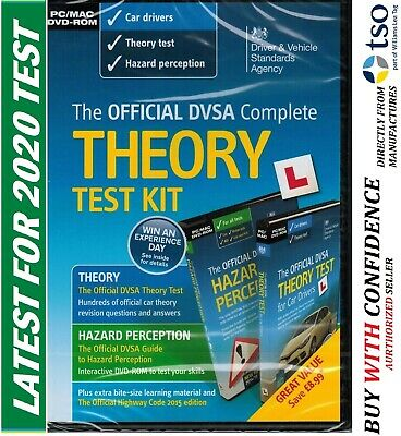 Official DVSA DSA Theory Test Kit 2019 PC MAC DVD Hazard Perception DVLA CD -kit