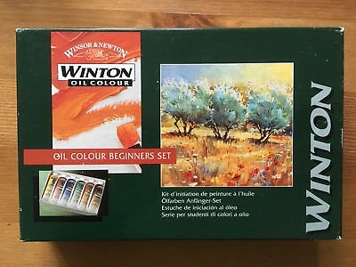 Windsor & Newton Winton Oil Colour BEGINNERS Paint Set. 6x37ml Tubes. New