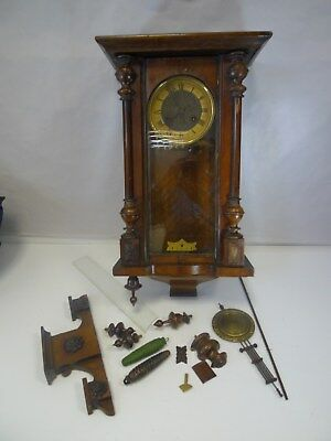 Vintage Black Forest Striking Wall Clock Not Working - Spares Or Repairs *