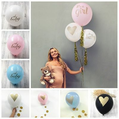 10pcs Decorations Inflatable Toys Boy Girl Print Latex Balloons Baby Shower