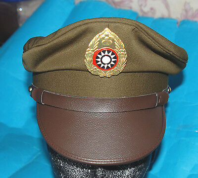 Ww2 Chinese Nationalist Forces Kmt Kuimingtang Army Service Cap (57)