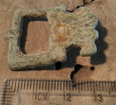 antique ROMAN GREEK BELT BUCKLE 100 - 200 AD medieval byzantine celtic