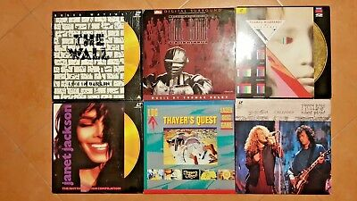 Laserdisc Lotto Lot Thayer's Game The Gate DTS The Wall Janet Jackson Plant Page