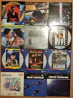 Laserdisc Lot 14 Cobra Postino Raro Highlander Poliziotto Frecce Kar Bad Blood