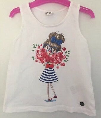 Mayoral Girls Age 3 White Summer Top