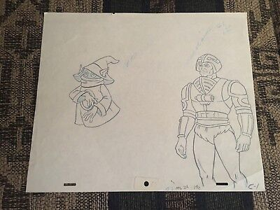 Orko Manatarms Masters of the Universe Animation Cel drawing Art