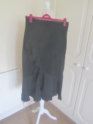 BNWT M/&S COLLECTION NAVY COTTON FRILL FRONT LINED MIDI SKIRT SIZE 18 £39.50