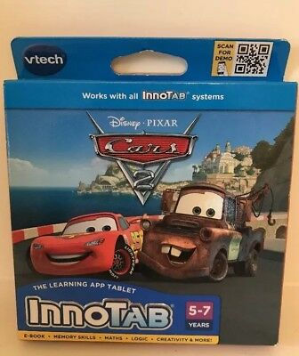 NEW! vtech InnoTab Game - Cars 2 - 4-6 Years