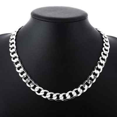 Sterling Silver Hallmarked Heavy Weight Solid Curb Chain Bracelet Mens New