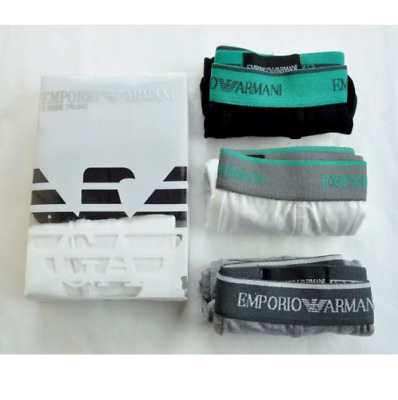 Men's Emporio Armani Jeans Boxer Trunk Shorts Underwear 3 In A Pack