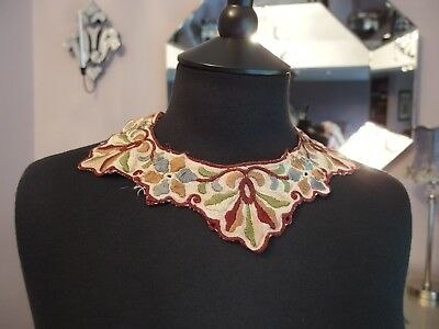 antique embroidered collar