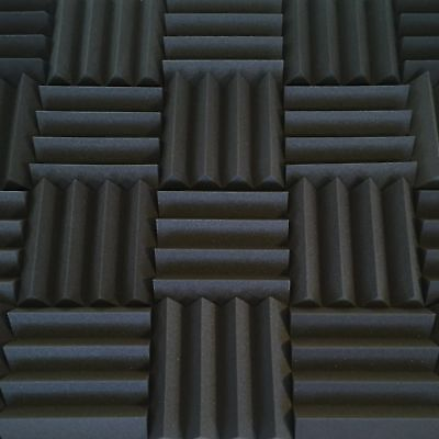 Bulk Acoustic Foam Panels, 3 Inch Thick Wedge Style Tiles 48 Sq Ft Soundproofing