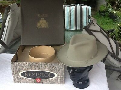 Vtg 1960s Resistol Herdsman Hat Org. Box -Open Road Pinched Crown Size 7 b1aeaa67590