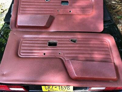 BMW E30 Convertible Door Left And Right Panel OEM Burgundy cabrio 325/318i