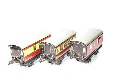 Vintage Pre-War Hornby Meccano Tin Lithographed Commuter Train Passenger Set