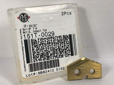 """AME ALLIED ENGINEERING 151T-0029 29/32"""" New Spade Drill Insert 1pc"""