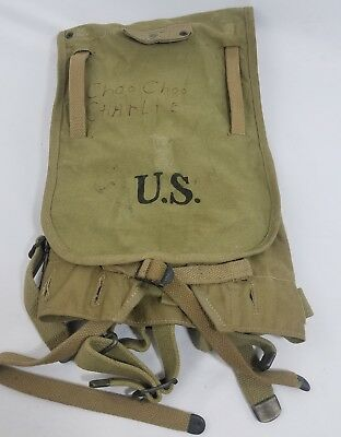 WW2 WWII US U.S. Haversack,1941,M1928,Original,Backpack,Military,Army,Field,Pack