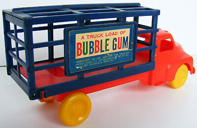 Vintage Plastic Truck Load Of Bubble Gum Delivery Truck Empty ,am4276