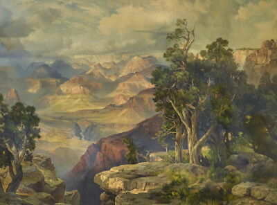 Thomas Moran Grand Canyon from Hermit Rim Road Giclee Canvas Print Paintings