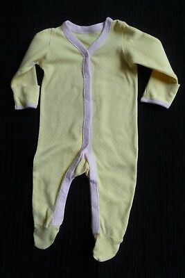 Baby clothes GIRL 3-6m yellow/pink/white spot babygrow 2nd item post-free!C SHOP