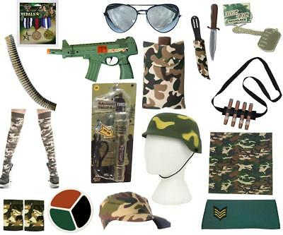 Army Multi Accessories Camouflage Medals Cap Cigars Rambo Jungle Tropical Hunter