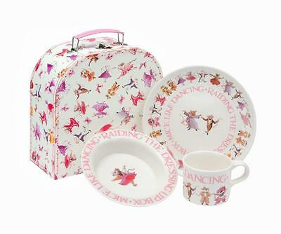 Emma Bridgewater Dancing Mice 3-Piece Melamine Feeding Set in Case