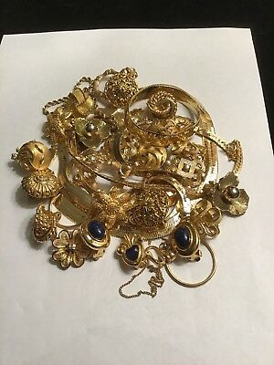 Vintage Grandma's Junk Drawer Of Jewelry Treasures Mixed Lot Not Tested