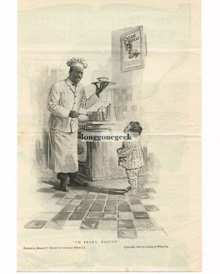 "1915 Cream Of Wheat ""I'm Ready, Rastus"" Edward Brewer Vtg Print Ad"